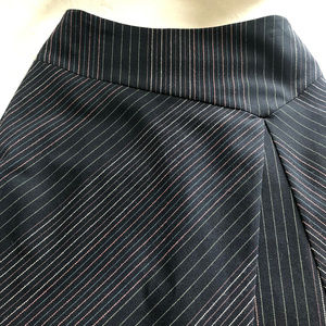 Ann Taylor Loft Striped A-line skirt size 0P
